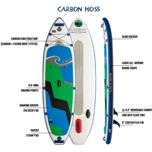 Hala_Carbon_HOSS_Inflatable_Paddle_Board_Denver_Rental_Package